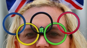 Olympic ring sunglasses with flashing LED lights