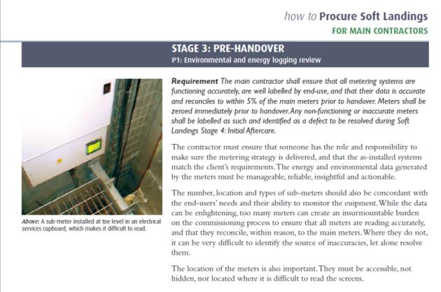 Stage 3 - Pre-handover